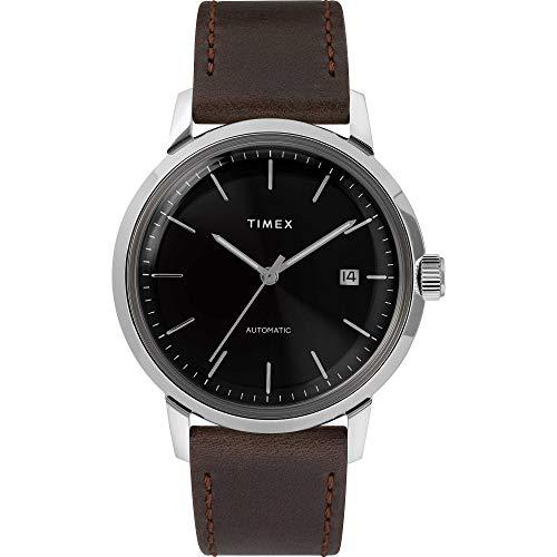 Timex Herren-Armbanduhr, Automatik, Marlin Automatik, 40 mm, Rotes Zifferblatt, Armband aus rotem Leder, TW2T23200