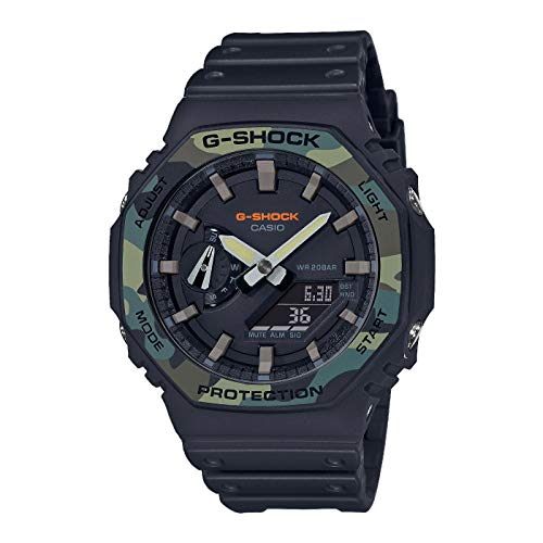 Casio Herren Analog – Digital Quarz Uhr mit Harz Armband GA-2100SU-1AER