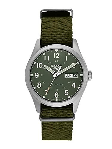 Seiko Herren Analog Automatik Uhr mit Nylon Armband SRPG33K1