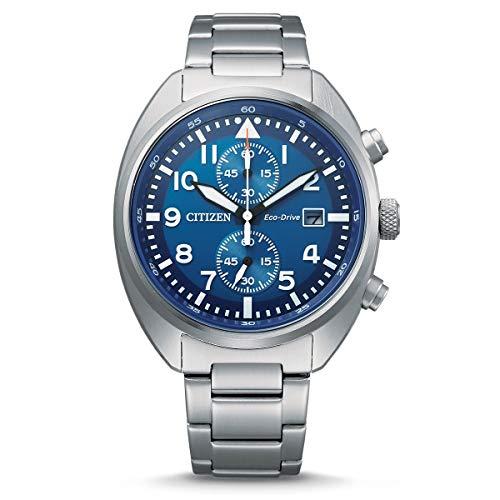 CITIZEN Herren Analog Eco-Drive Uhr mit Edelstahl Armband CA7040-85L