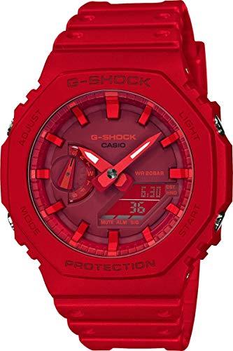 Casio Unisex Analog – Digital Quarz Uhr mit Kautschuk Armband GA-2100-4AER