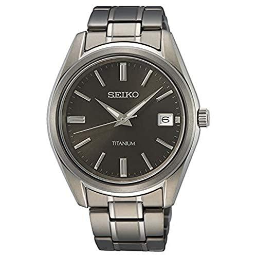Seiko Herren Analog Quarz Uhr mit Metall Armband SUR375P1