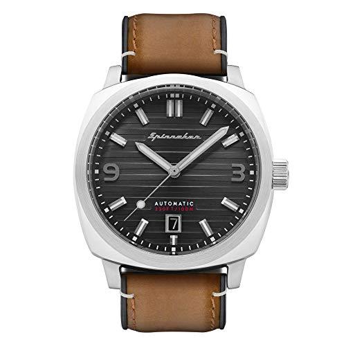 Spinnaker Herren-Armbanduhr, automatisch, 42 mm, graues Zifferblatt, braunes Lederarmband SP-5073-05