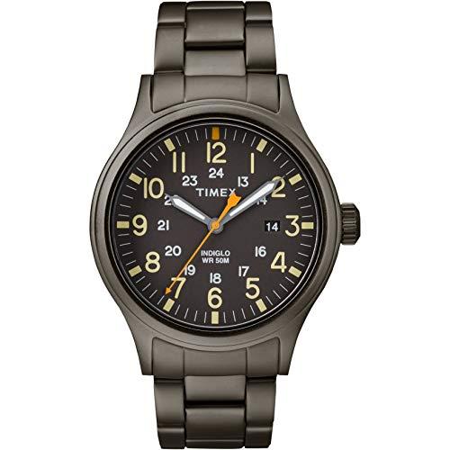 Timex Herren Analog Quarz Uhr mit Edelstahl Armband TW2R46800