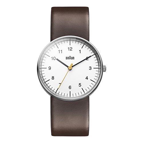 Braun Unisex Analog Quarz Armbanduhr BN0021WHBRG