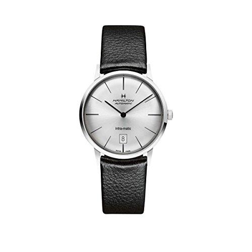 Hamilton Herren Analog Automatik Smart Watch Armbanduhr mit Leder Armband H38455751