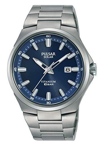 Pulsar Solar Herren-Uhr Titan mit Metallband PX3211X1