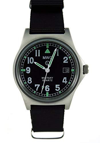 MWC G10LM Militär-Uhr mit schwarzem Armband