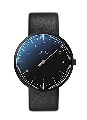Botta-Design UNO Titan Quarz Armbanduhr - Einzeigeruhr, Lederband (40 mm, Weiß)