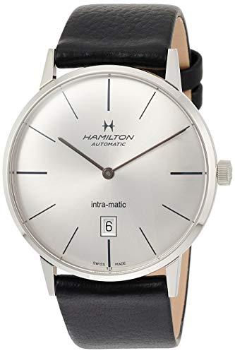 Hamilton Herren Analog Automatik Uhr mit Leder Armband H38755751
