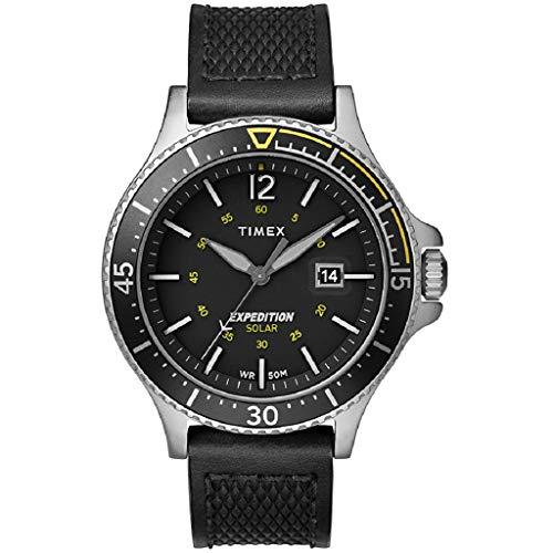 Timex Herren Analoger Quarz Uhr mit Echtes Leder Armband TW4B14900