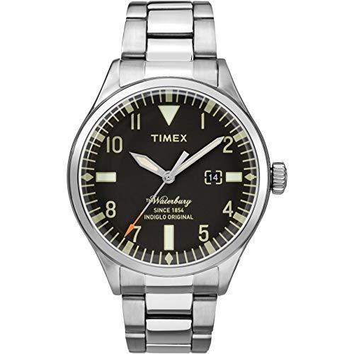 Timex Herren Analog Quarz Uhr mit Edelstahl Armband TW2R25100
