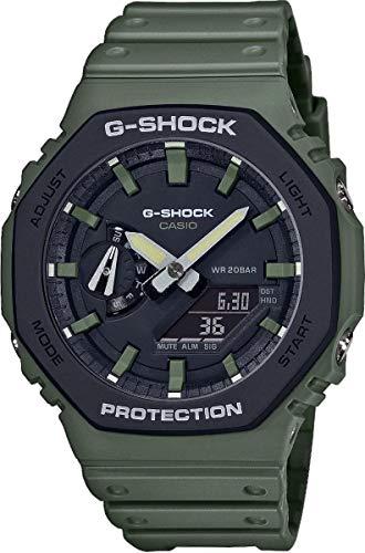 Casio Herren Analog – Digital Quarz Uhr mit Harz Armband GA-2110SU-3AER