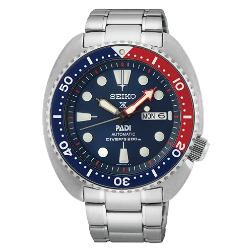 Seiko Prospex Padi Diver´s Armbanduhr, 200 m, automatisch, Stahl, blaues Zifferblatt, SRPE99K1.