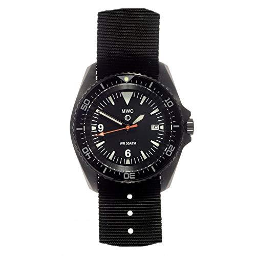 MWC Swiss Quarz 300m 316L PVD schwarz Edelstahl Deutschen Militär NATO Herren-Armbanduhr