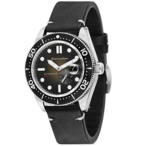 SPINNAKER Croft Herren-Armbanduhr 43mm Armband Leder Automatik SP-5058-03