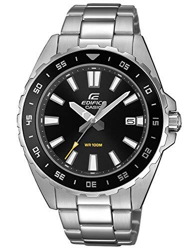 Casio Herren Analog Quarz Uhr mit Edelstahl Armband EFV-130D-1AVUEF