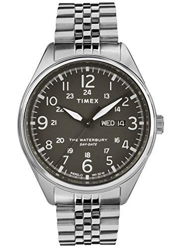 Timex Herren Analog Quarz Uhr mit Edelstahl Armband TW2R89300