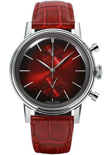 Undone Herren Uhr Chronograph Quarz Hybrid Mechanische Edelstahl Leder Mystique Mars