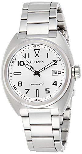 CITIZEN Herren Analog Automatik Uhr mit Edelstahl Armband NJ0100-89A