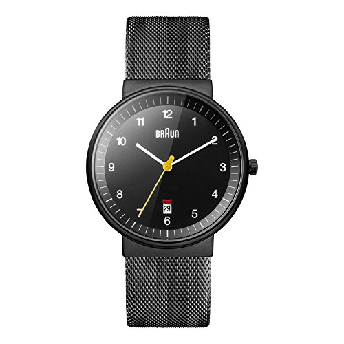 Braun Herren-Armbanduhr Gents Classic Analog Quarz BN0032BKBKMHG