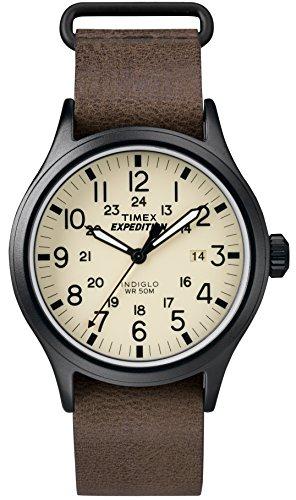 Timex Herren Analog Quarz Uhr mit Leder Armband TWC007000