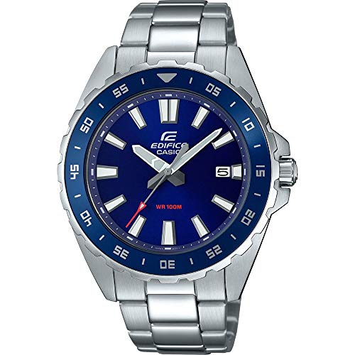 Casio Herren Analog Quarz Uhr mit Edelstahl Armband EFV-130D-2AVUEF