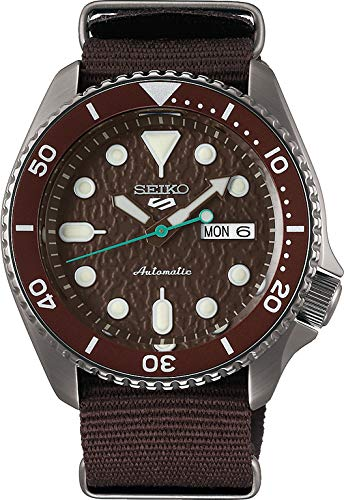 Seiko 5 Sense Herren-Uhr mit Titankarbidauflage und Textilband SRPD85K1