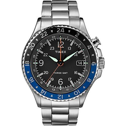 Timex Herren Analog Quartz Uhr Allied Three Gmt