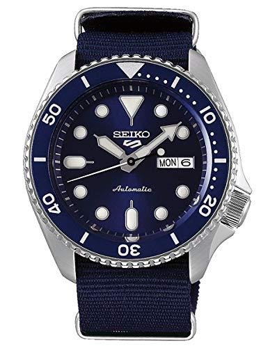 Seiko 5 Sports Herren-Uhr Edelstahl mit Textilband SRPD51K2