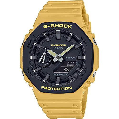 Casio Herren Analog – Digital Quarz Uhr mit Harz Armband GA-2110SU-9AER