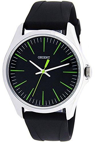 Orient Herren Analog Quarz Uhr mit Gummi Armband FQC0S00FB0