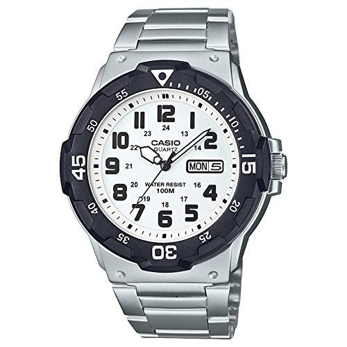 CASIO Herren Analog Quarz Uhr mit Edelstahl Armband MRW-200HD-7BVEF
