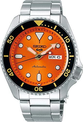 Seiko 5 Sports Herren-Uhr analog Automatik mit Metallarmband SRPD59K1
