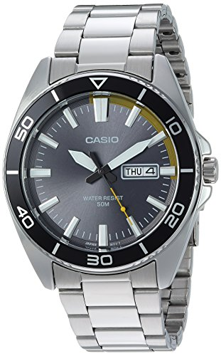 Casio Men's 'Sports' Quartz Stainless Steel Casual Watch, Color:Silver-Toned (Model: MTD-120D-8AVCF)