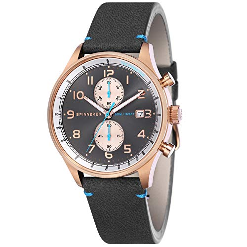 Spinnaker Herren Chronograph Quarz Uhr mit Leder Armband SP-5050-05