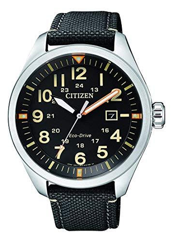 Citizen Herren Analog Quarz Uhr mit Nylon Armband AW5000-24E