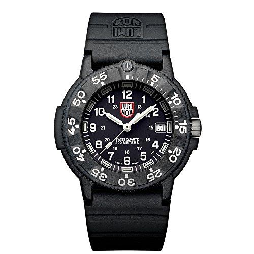Luminox Herren-Armbanduhr Analog Quarz Kautschuk - LU3001