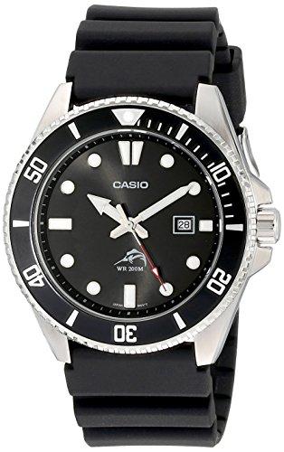 Casio, Herren-Uhr Core MDV106–1AV, Schwarz, Kunstharz, Quarzuhr mit schwarzem Zifferblatt