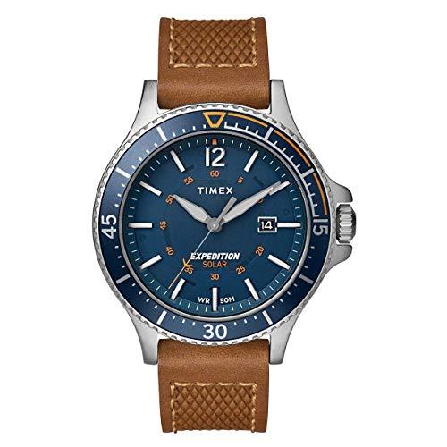 Timex Herren Analoger Quarz Uhr mit Echtes Leder Armband TW4B15000