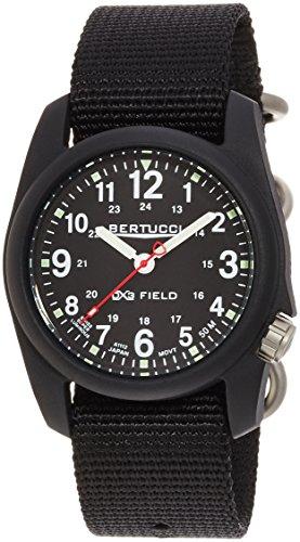 Bertucci 11015 Unisex Schwarz Nylon Band Black Dial Smart Uhr