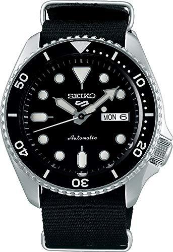 Seiko 5 Sports Herren-Uhr analog Automatik mit Textilarmband SRPD55K3