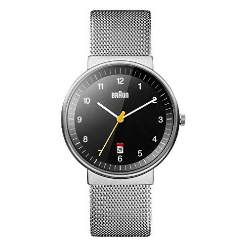 Braun Unisex Erwachsene Analog Quarz Armbanduhr BN0032BKSLMHG