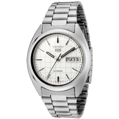 Seiko Herren Analog Automatik Uhr mit Edelstahl Armband SNXF05K1