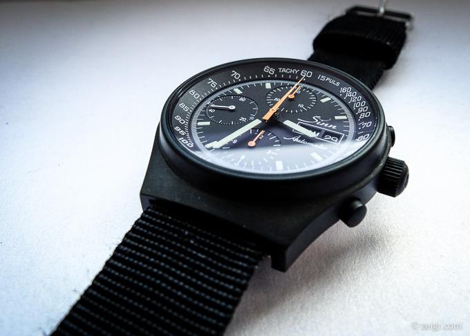 Schwarze Uhren - Sinn 144 mit DLC Beschichtung