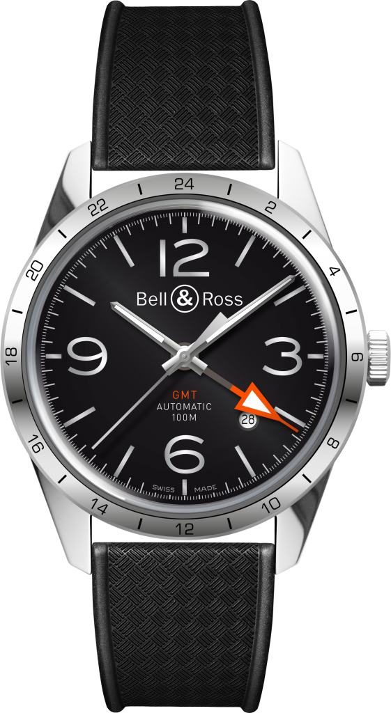 Bell & Ross - Vintage-BR-123-GMT-Tropic-Strap-Folded