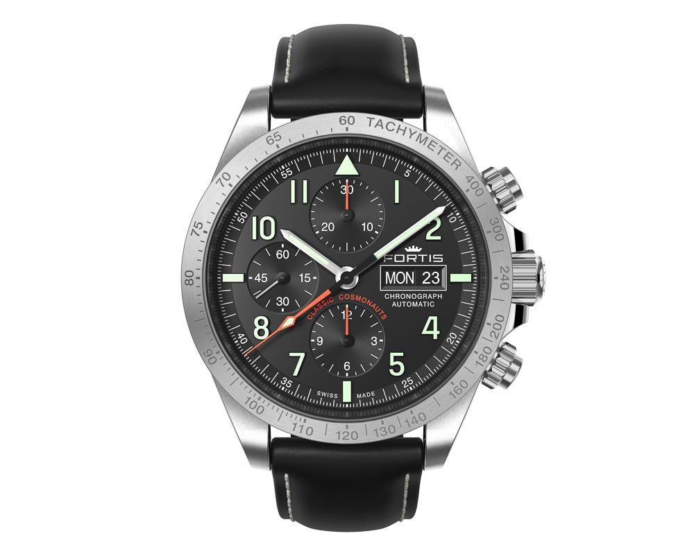 Fortis Classic Cosmonauts Chronograph  Steel p.m - Omega Speedmaster Alternative