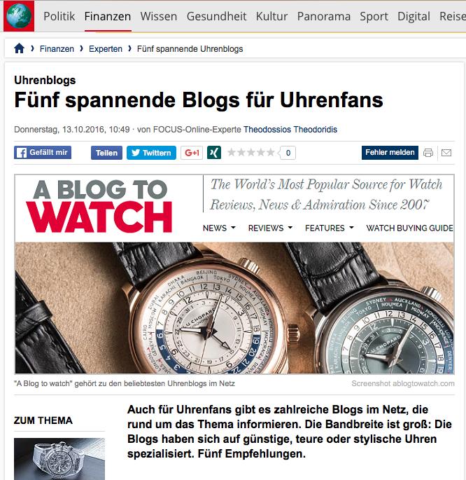 zeigr.com Uhrenblogger Focus
