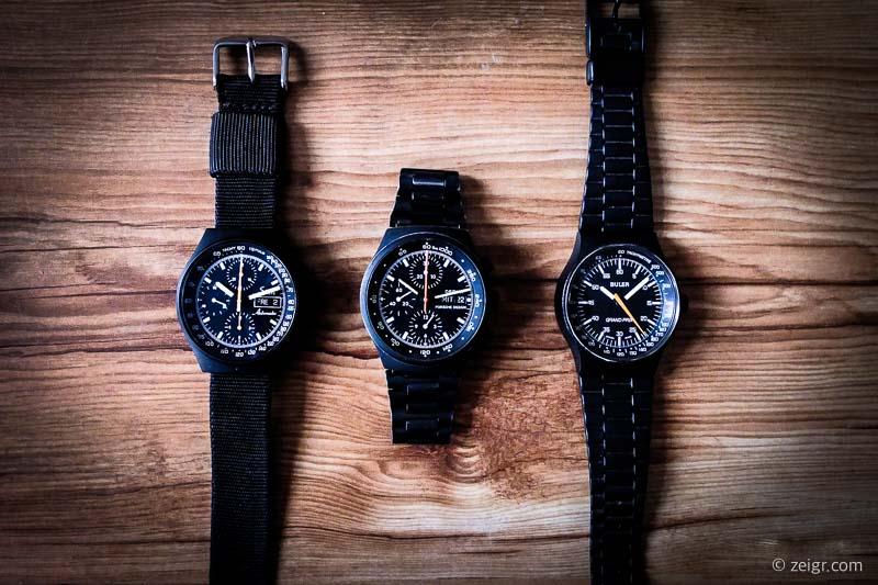 Vintage Uhren kaufen Sinn 144, Orfina Porsche Design, Buler Grand Prix
