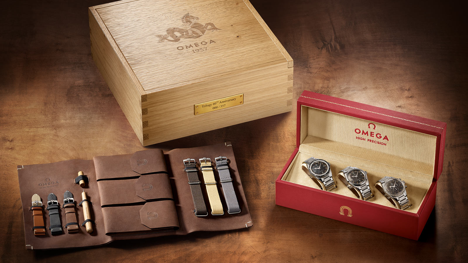 HE OMEGA 1957 TRILOGY LIMITED EDITIONS